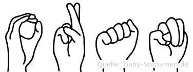 Oran im Fingeralphabet der Deutschen Gebärdensprache