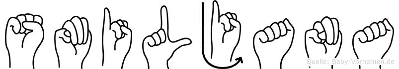 Smiljana in Fingersprache für Gehörlose