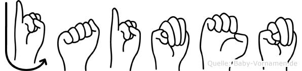 Jaimen im Fingeralphabet der Deutschen Gebärdensprache