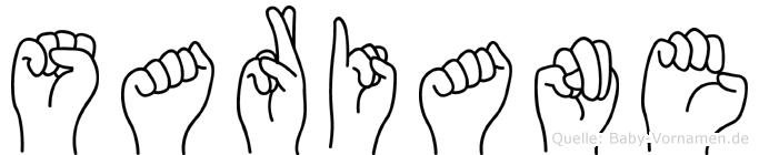 Sariane in Fingersprache für Gehörlose