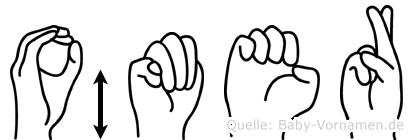 Ömer im Fingeralphabet der Deutschen Gebärdensprache