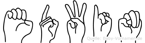 Edwin in Fingersprache für Gehörlose