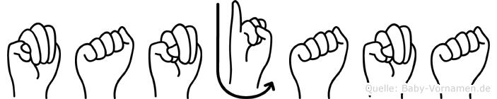 Manjana in Fingersprache für Gehörlose
