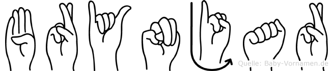 Brynjar im Fingeralphabet der Deutschen Gebärdensprache