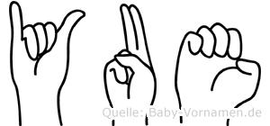 Yue im Fingeralphabet der Deutschen Gebärdensprache