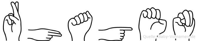 Rhagen in Fingersprache für Gehörlose