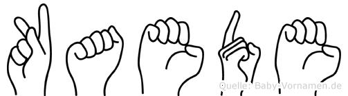 Kaede im Fingeralphabet der Deutschen Gebärdensprache