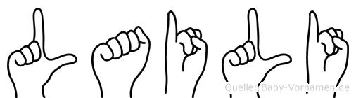Laili in Fingersprache für Gehörlose