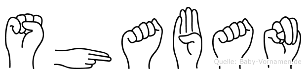 Shaban in Fingersprache für Gehörlose