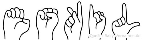 Eskil in Fingersprache für Gehörlose