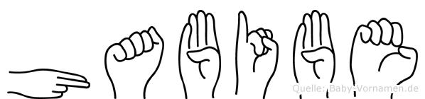 Habibe im Fingeralphabet der Deutschen Gebärdensprache