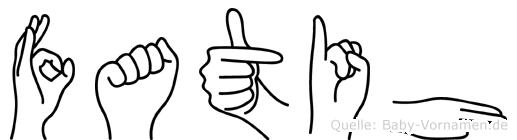 Fatih in Fingersprache für Gehörlose