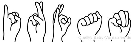 Irfan in Fingersprache für Gehörlose