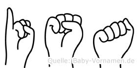Isa im Fingeralphabet der Deutschen Gebärdensprache