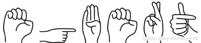 Egbert in Fingersprache für Gehörlose