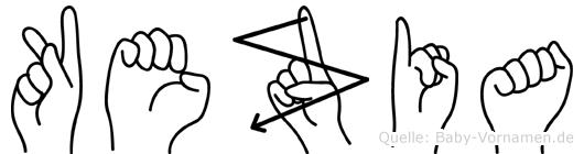 Kezia in Fingersprache für Gehörlose