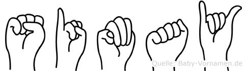 Simay in Fingersprache für Gehörlose
