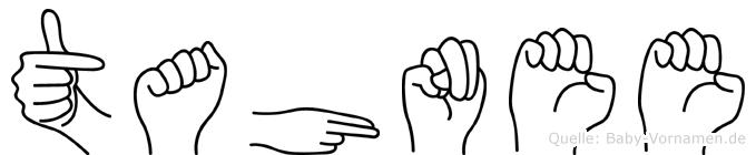 Tahnee im Fingeralphabet der Deutschen Gebärdensprache