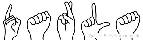 Darla im Fingeralphabet der Deutschen Gebärdensprache