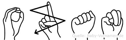 Ozan in Fingersprache für Gehörlose