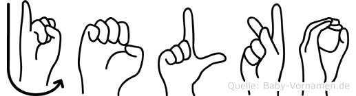 Jelko im Fingeralphabet der Deutschen Gebärdensprache