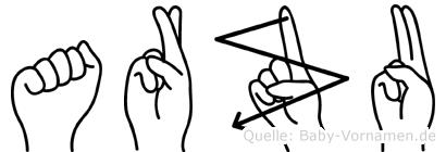 Arzu in Fingersprache für Gehörlose