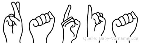Radia in Fingersprache für Gehörlose
