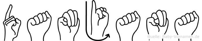Damjana in Fingersprache für Gehörlose