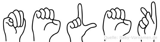 Melek in Fingersprache für Gehörlose