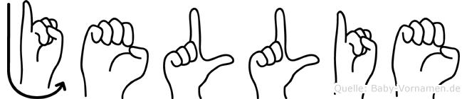 Jellie im Fingeralphabet der Deutschen Gebärdensprache
