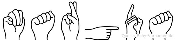 Margda in Fingersprache für Gehörlose