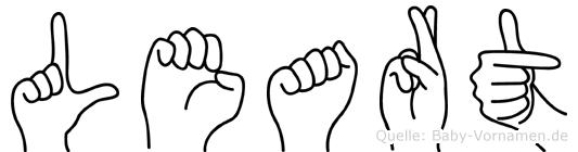 Leart im Fingeralphabet der Deutschen Gebärdensprache