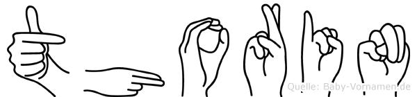 Thorin im Fingeralphabet der Deutschen Gebärdensprache