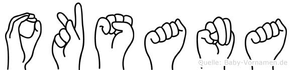 Oksana in Fingersprache für Gehörlose