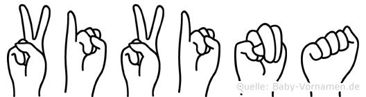Vivina in Fingersprache für Gehörlose