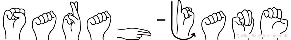 Sarah-Jane im Fingeralphabet der Deutschen Gebärdensprache