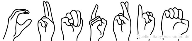 Cundrie in Fingersprache für Gehörlose