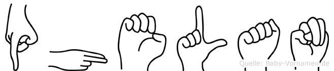 Phelan im Fingeralphabet der Deutschen Gebärdensprache