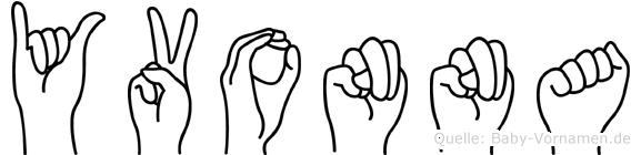 Yvonna in Fingersprache für Gehörlose