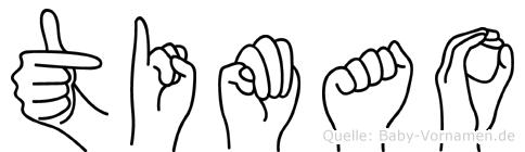 Timao im Fingeralphabet der Deutschen Gebärdensprache