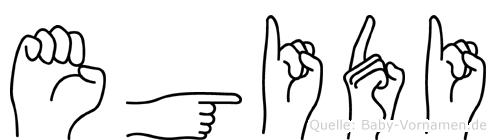 Egidi in Fingersprache für Gehörlose
