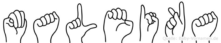 Maleika in Fingersprache für Gehörlose
