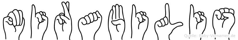 Mirabilis im Fingeralphabet der Deutschen Gebärdensprache