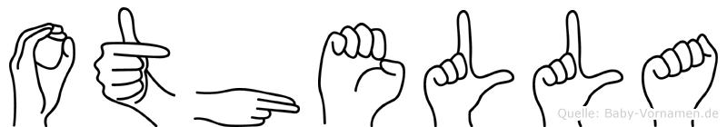 Othella im Fingeralphabet der Deutschen Gebärdensprache