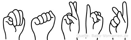 Marik im Fingeralphabet der Deutschen Gebärdensprache