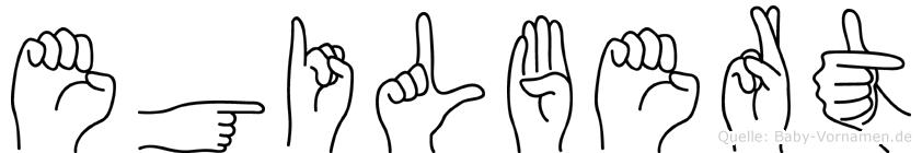 Egilbert im Fingeralphabet der Deutschen Gebärdensprache