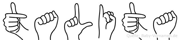 Talita in Fingersprache f�r Geh�rlose
