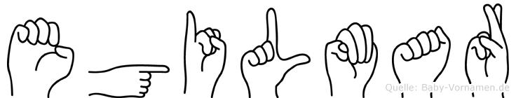 Egilmar im Fingeralphabet der Deutschen Gebärdensprache