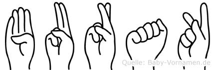 Burak im Fingeralphabet der Deutschen Gebärdensprache