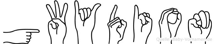 Gwydion im Fingeralphabet der Deutschen Gebärdensprache